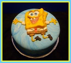 SpongeBob Squarepants cake by Yvone, Twin Cities, MN, www.birthdaycake4free.com