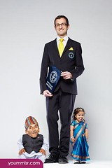 Chandra Dangi With Jyoti Amge Smallest Man_Smallest Woman Guinness World Records 2012 (tamerabdelfatah) Tags: world woman 2014 shortest
