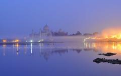Twilight at Taj... (nimitnigam) Tags: blue monument night lens photography 50mm prime twilight nikon photos indian magic landmarks agra hour monuments incredible magical nimit nigam incredibleindia d3000