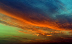 1Nikon 19 4 059 (stranger_bg) Tags: blue sunset sky sun nature colors clouds photos magic picture bulgaria