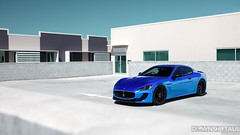 Blue Chrome Maserati GranTurismo (Matyas Fulop) Tags: blue australia brisbane chrome queensland highkey wraps exclusive maserati downshift bluechrome mcsport downshiftaus