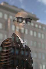 Sunglasses (d_t_vos) Tags: windows light reflection sunglasses fashion facade contrast portait dummy showcase showwindow leatherjacket tailorsdummy dickvos dtvos vision:outdoor=0686