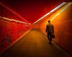 Arteries [Explored] (jellyfire) Tags: city nightphotography red england orange london night subway unitedkingdom sinister tunnel paddington unusual subterranean quirky perespective 1740mmf4lusm canon5dmkii utrban vision:sunset=0806 vision:street=0759 vision:sky=0964 vision:dark=0531 vision:clouds=0723