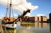 GLOUCESTER DOCKS (chris .p) Tags: uk england water docks reflections march spring nikon sailing ship gloucestershire warehouse gloucester gb ruth schooner 2014 d7000 mygearandme