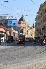 Praga - CZECH REPUBLIC **2011** (Fabrizio C79.) Tags: street city red canon prague tram praha praga line explore bohemia metropolitan turism linee trasporto streetphotagraphy