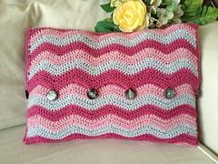 Crochet ripple cushion (EirawenHandmade) Tags: colour ripple crochet cushion