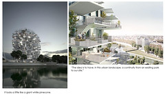 It looks a little like a giant white pinecone. (laven_01) Tags: white building giant frank amazing apartment montpellier nicolas balconies pinecone architects sou rendering boutte oxo residents manal fujimoto laven consultants strategically laisne associes rachdi treeinspired rsistudio