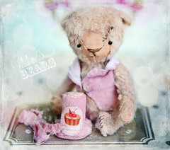 DOMENICK (Odd Princess Dolls) Tags: bear art toy stuffed artist teddy sweet odd stiched shabby 5inch shabbychic artistbear pocketsize artistteddy