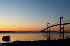 Bridge in twilight (permbina hwy) Tags: morning bridge sunset sunrise dawn twilight rhodeisland newport