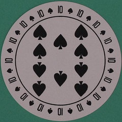Discus Round Playing Card 10 of Spades (Leo Reynolds) Tags: playing canon eos iso100 deck card squaredcircle 60mm f80 playingcard carddeck 40d hpexif 0033sec 033ev xleol30x sqset101