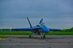 Blue Angel #1 at rest (votaaj) Tags: airshow blueangels frg frgrepublicairport 2014bethpagejonesbeachairshow
