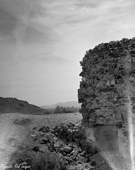 Desolation (magnetic_red) Tags: wall landscape moody desert eerie ghosttown rhyolite largeformat desolation crumbling crowngraphic shotonfilm ilobsterit
