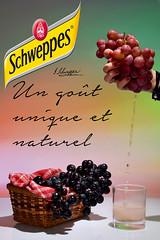 PUB SOFT DRINK (Morgane Dantz) Tags: studio main raisins grape couleur criture schweppes liquide glatine