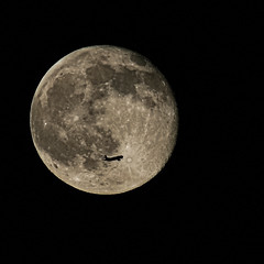 7-02-15 Moon Transit. (theeqwlzr) Tags: moon cool nightlights astrophotography nightsky wtf southerncalifornia lunar solarsystem canonrebelxti sandimascalifornia moonandairplane