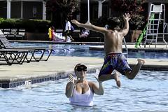Amy catching the DoodleBug (Amanda L Brewer) Tags: summer water pool swimming ga fun nikon amy cousins tony nikkor centerville sundayafternoon doodlebug 2015 18300mm eaglesprings d7200 nikond7200 amandalbrewer