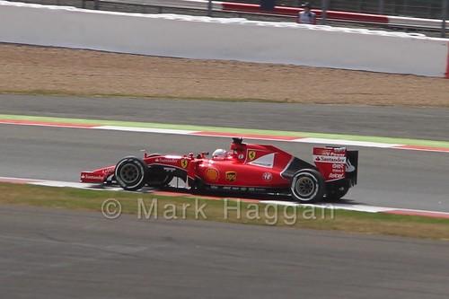 Sebastian Vettel's Ferrari in Free Practice 2 at the 2015 British Grand Prix