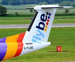FlyBe British European Bombardier DHC-8-402Q Q400 G-FLBE Tail (Mark 1991) Tags: edinburgh edi dash8 bombardier dehavilland britisheuropean flybe q400 edinburghairport dehavillandcanada dhc8 gflbe