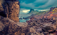 Olivine Pools in the Rain (Fresh Perspective with a Twist) Tags: ocean sunset clouds landscape hawaii lava rocks maui vegetation