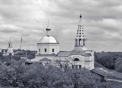 Trinity Cathedral (Mikhail M.) Tags: architecture bw russia serpukhove orthodox church
