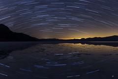 Stars Reflected. (Aztravelgrl (Forgotten Places Photography)) Tags: night badwaterbasin startrails reflection nature california deathvalley usa lightpainting longexposure lowlight nightphotography