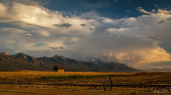 Mission Mountains Approaching Storm (John Clay173) Tags: mountains barn ronan montana sunset jclay fall