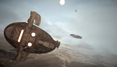 Star Wars  Battlefront (TheKnappen) Tags: slave 1 millennium falcon empire star wars battlefront starwarsbattlefront sun sky tatooine fighter fightersquadron tie tiefighter tiefighters tieinterceptor xwing explosion awing frostbite