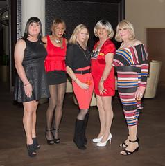 Vanity Club Girls! (kaceycd) Tags: crossdress tg tgirl lycra spandex peplum minidress platino pantyhose pumps peeptoepumps opentoepumps anklestrappumps highheels stilettopumps stilettoheels sexypumps stilettos vanityclub vc vcgirls s