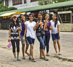 Hello Girls (Beegee49) Tags: street filipina girls students posing smiling silay city philippines