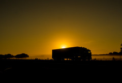 early mornings (bart.kwasnicki) Tags: truck sunrise australia landscape outdoor