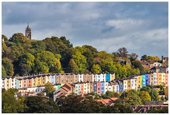 Cliftons Colours. (malcbawn) Tags: painted autumn houses colours cabottower bristol outdoors clifton malcbawnphotography