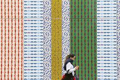 - Wrapper - (Jacqueline ter Haar) Tags: wrapper permanent work art jacquelineponcelet building perimeter wall next edgwareroad circleline tube station underground patronen patterns