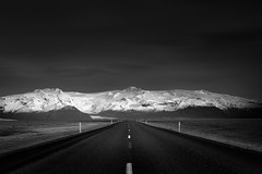 Road To Nowhere (TS446Photo) Tags: iceland landscape road travel snow mountain black white