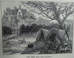 The Tent and The Mansion (University of Glasgow Library) Tags: occult magic spiritualism 19thcentury gypsy gypsysorcery sorcery mysticism illustration drawing