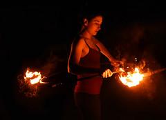 the girl will fire circle (jonnyamerica) Tags: fire girl ragazza rosso red fuoco parco degli acquedotti roma rome danza dance artist artista saltimbanchi giocoliere notte night luce light