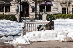 Waiting For The Party (ViewFromTheStreet) Tags: allrightsreserved architecture blick blickcalle blickcallevfts calle citypark copyright2017 irish park pennsylvania philadelphia photography rittenhouse rittenhousesquare square stpatricksday stphotographia streetphotography viewfromthestreet alone amazing bench boots brick building candid classic coat female girl green lonely lonelystare party snow street sunglasses vftsviewfromthestreet waiting wintercoat woman ©blickcallevfts ©copyright2017blickcalle