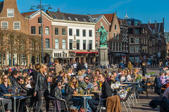 DSC_5060 (Al the photo man) Tags: citycenter grotemarkt food terrace streetphotography dutch color haarlem netherlands people