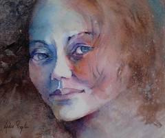 Kimie - JKPP (lydie.pieplu) Tags: aquarelle portrait watercolor jkpp