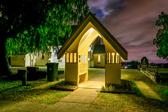 Lych Gate, St Matthews, Grovely (stephenk1977) Tags: lychgate lichgate australia queensland qld brisbane grovely mitchelton stmatthews anglican church chapen building nikon d3300 night moon