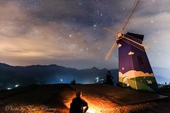 Milk Way   Galaxy  Windmill (Liao Joseph) Tags: nightshot night nopeople mountains taiwan sky stars wind windmill