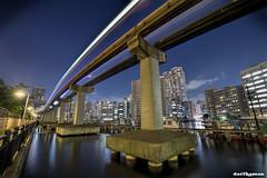 Tokyo Monorail (daccha) Tags: monorail light night nightscape nightphoto sky city cityscape landscape nikon sigma tokyo japan street hdr 東京 日本
