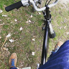 View from the steed #Brompton (inrepose) Tags: ifttt instagram brompton foldingbike