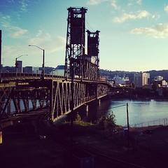 Walking through beautiful Portland.