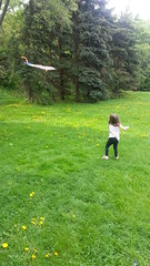 Kite flying with Nia (broccolianddip) Tags: summer kite spring kiteflying nofilter greengrass flickrandroidapp:filter=none