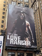 Lone Ranger in New York (Vilseskogen) Tags: street new york city nyc usa ny station movie poster manhattan creative commons penn vilseskogen