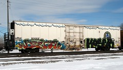 beers kose (Youra Dick) Tags: winter train graffiti stock boxcar freight bnsf rolling reefer mainline