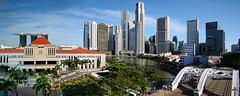 Singapore River with iconic landmarks within... (williamcho) Tags: cityscape financialdistrict boatquay parliamenthouse singaporeriver southbridgeroad imagesofsingapore riversidepromenade rivertaxis elginbridge marinabaysands flickraward ©williamcho