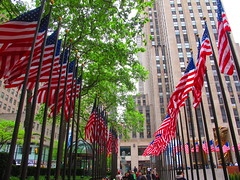 American Flags in Rockefeller Center for Memorial Day (AndrewDallos) Tags: nyc newyorkcity manhattan rockefellercenter flags memorialday