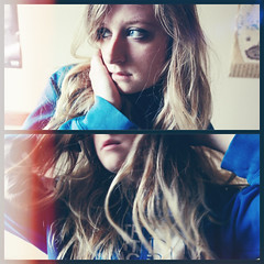 360.365 - Let Go (KatGatti) Tags: blue portrait woman sunlight selfportrait girl beautiful canon vintage project hair eyes pretty snapshot calm filter blond flip 365 gatti letgo afterlight crazywild 354project