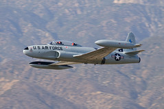 """T-33 """"Ace Maker"""" (Trent Bell) Tags: california airport aircraft airshow socal lockheed redlands silverstar canadair shootingstar t33 airfest ct133 5thanniversary 2013 acemaker hanger24 n933gc"""