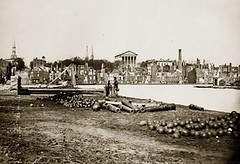 Ruins of Richmond, Virginia, from the Canal Basin, April 1865 (Peer Into The Past) Tags: history virginia ruins richmond civilwar devastation 1865